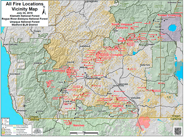New Southern Oregon Fire Map Produced by UA's MS-GIST Alumnus Shane on